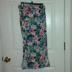 Other - EUC  Girls long tropical skirt size small